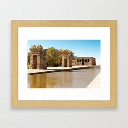Templo Debod. Framed Art Print