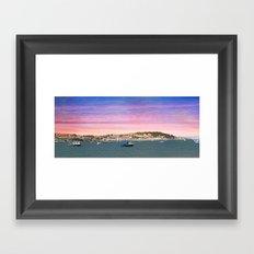 SUNSET ON INSTOW Framed Art Print