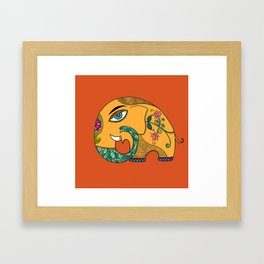 KamalGaja (elephant with lotus ) Framed Art Print