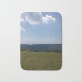 Meadow and mountains Bath Mat