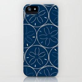 Sanddollar Pattern in Blue iPhone Case