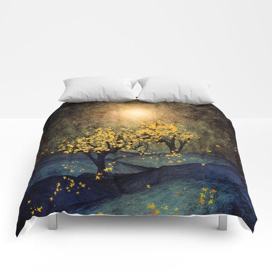 Yellow Autumn Comforters
