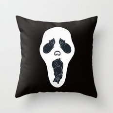Screaming Cats Throw Pillow