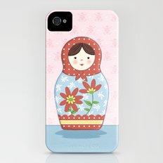 Matryoshka Doll (red & blue) iPhone (4, 4s) Slim Case