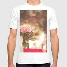 Under a bokeh sky White Mens Fitted Tee MEDIUM