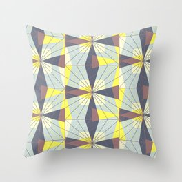 It's complicated. Bold geometric pattern in marsala, yellow and charcoal. Throw Pillow