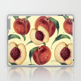 Watercolor sweet peaches Laptop & iPad Skin
