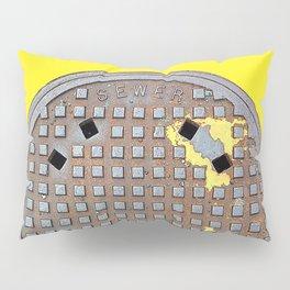 Montreal Sewer Manhole Pillow Sham