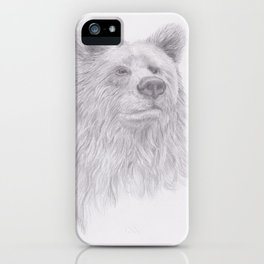 Thoughtful Bear iPhone Case
