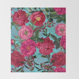 Vintage & Shabby Chic - Summer Tropical Garden I Throw Blanket