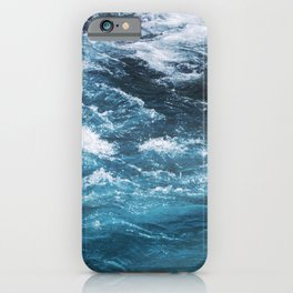 turquoise blue ocean waves iPhone Case