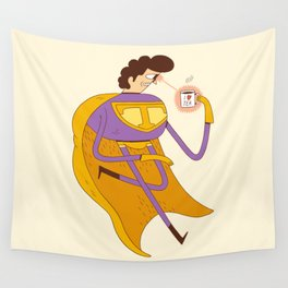 Man of Tea Wall Tapestry