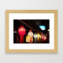 Loi Krathong Framed Art Print