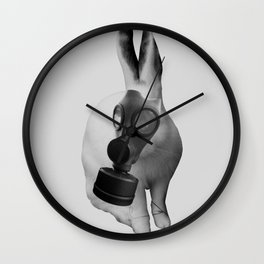 gas mask rabbit Wall Clock