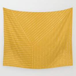 Lines / Yellow Wall Tapestry