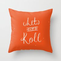 lettering Throw Pillows featuring LETTERING No1  by vatomouro