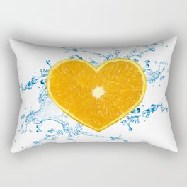 Slice of Heart Shaped Orange Rectangular Pillow