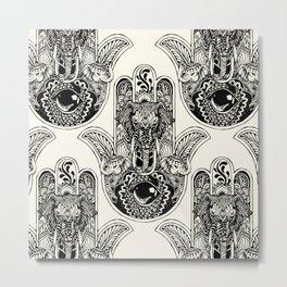 Hamsa Hand Elephant Metal Print