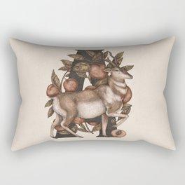 Letter A: Antelope & Apricots Rectangular Pillow