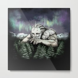 Ymir the Frost Giant Metal Print