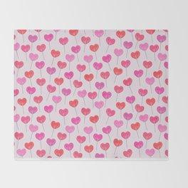 Heart Suckers Throw Blanket