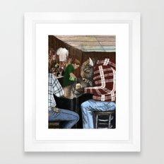 hard day for a Buffalo  Framed Art Print