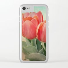 Vintage tulips(4) Clear iPhone Case
