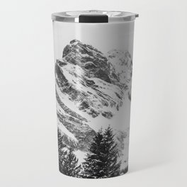 black and white like forest and snow Travel Mug