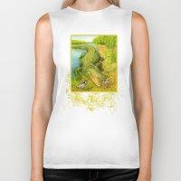 crocodile Biker Tanks featuring Crocodile by Natalie Berman