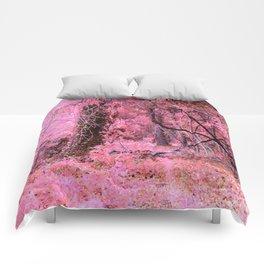 Pink Fantasy Forest Comforters