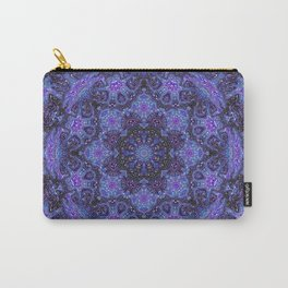 Blue and Purple Kaleidoscope 2 Carry-All Pouch