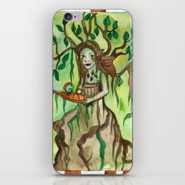 Dryad with a Tray iPhone Skin