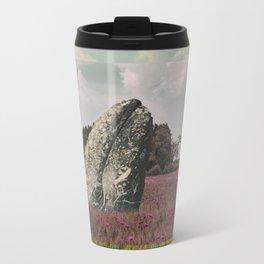 wild whale wood flower Metal Travel Mug