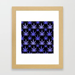 Marijuana Violet Blue Weed Framed Art Print