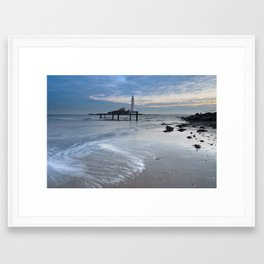 St Marys Lighthouse Framed Art Print