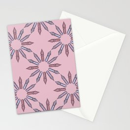 Dip Pen Nibs Circle (Dusty Rose Palette) Stationery Cards