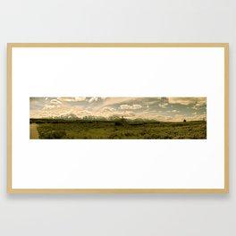 Teton Western Panorama Framed Art Print