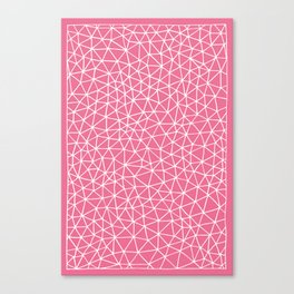 Connectivity - White on Pink Canvas Print