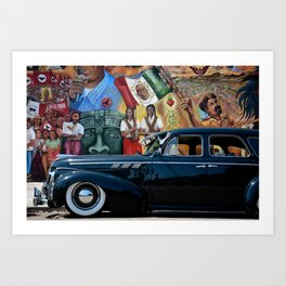 Pontiac in The Park Art Print