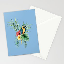 Tropical Blue Parrot Stationery Cards