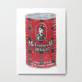 McGraws Ale Metal Print