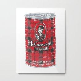 McGraws Ale Metal Print