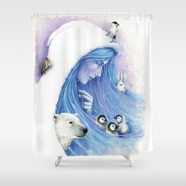 Lady Winter / Dame Hiver Shower Curtain