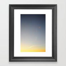 Vapour Trail Framed Art Print