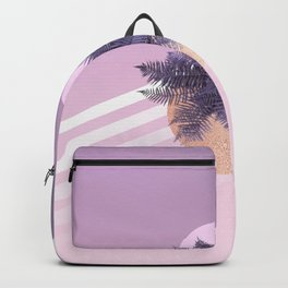 Moon Fern on Violet & Pink ombre with stripes Backpack