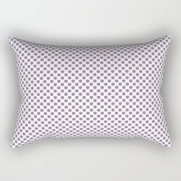 Orchid Mist Polka Dots Rectangular Pillow