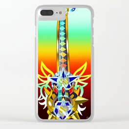 Fusion Keyblade Guitar #68 - Omega Weapon & Ultima Weapon Clear iPhone Case