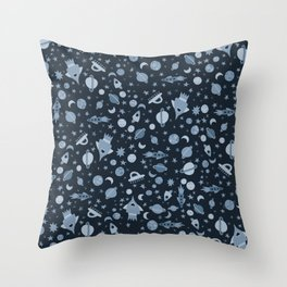 I Need Some Space Dark Blue Throw Pillow