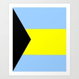 flag of Bahamas 2– Nassau,Bahamian,Bahamianese,Junkanoo,Regattas Art Print