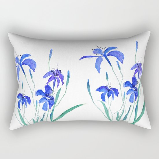 blue day lily Rectangular Pillow